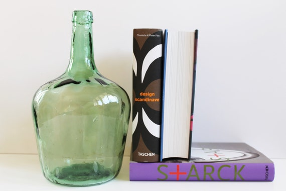 vintage 2l dame jeanne bottle viresa bottle 70s green. Black Bedroom Furniture Sets. Home Design Ideas
