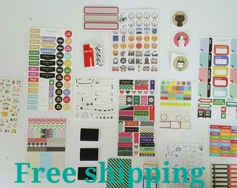The planner's kit. Planner stickers. Planner supplies. Free shipping.