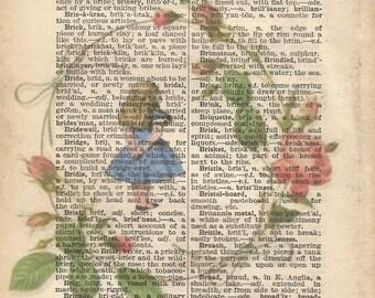 alice in wonderland style vintage print