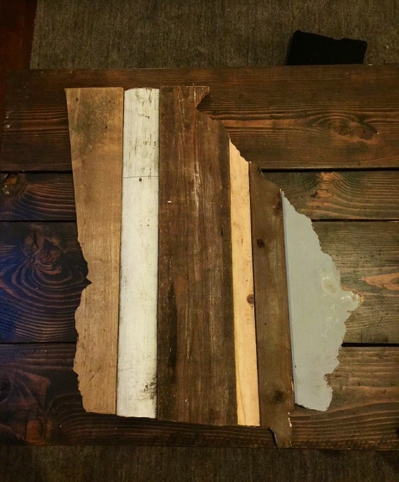 Georgia reclaimed wood state outline wall art free shipping for Where to find reclaimed wood for free