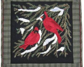 """Christmas Wool Wall Hanging PATTERN """"Evergreen Retreat"""" by Lily Anna Stitches"""