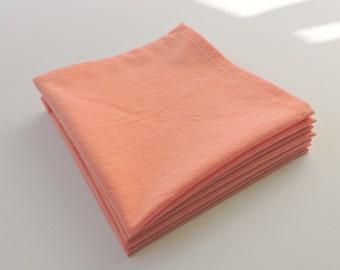 Pretty in Peach Cloth Napkins (set of 4)