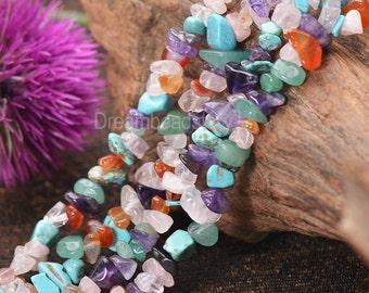 Gemstone Beads, Mixed Stone Loose Beads, Natural Irregular Semi Precious Stone Chips Beads (JY4)