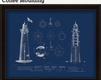 0293--Minot Ledge Light House 1855 Architectural Drawings