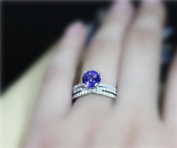 Genuine Tanzanite Ring Set VS Tanzanite Engagement Ring Set
