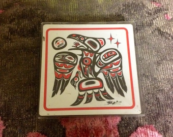 Native American Eagle Art Coasters