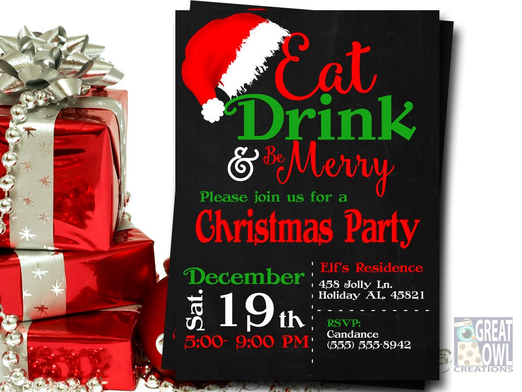 Christmas Party Invitations Christmas Invitations Christmas – Invitations to Christmas Party