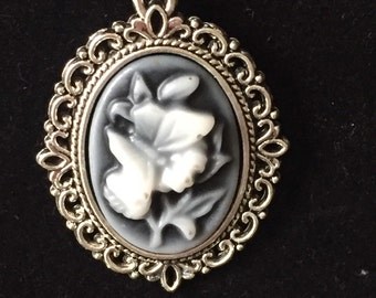 Antique-Style Butterfly Cameo