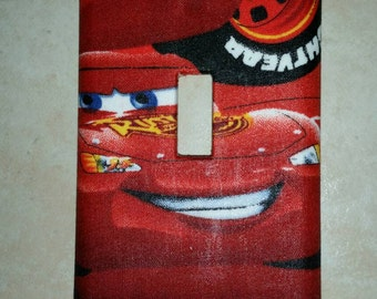 Cars light switch face plate