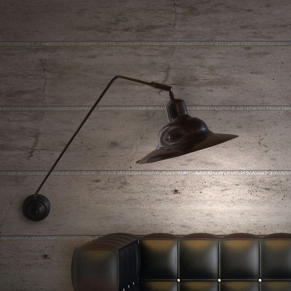 Wall Mounted Brass Reading Lamps : Brass wall mounted reading lamp. Solid brass reading lamp.