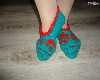 Women Slippers, Knit  Women Slippers, Women Shoes, Home  Slippes, Slipers with Decorations,