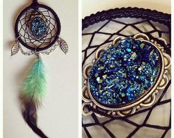 Magical Titanium Druzy Dreamcatcher Necklace