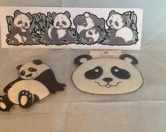 Pandas appliques