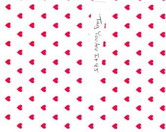 Red Hearts Pattern Digital Download