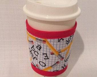 CLEARANCE cup coozie teacher school