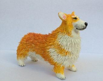 Velvetclay welsh corgi dog