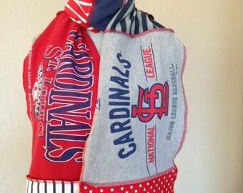 St. Louis Cardinals Scarf, Cardinals Baseball Scarf,  St. Louis Baseball Scarf