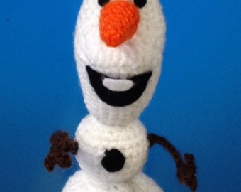 OLAF from the movie frozen snowman unique crochet