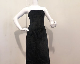 Alessandro Dell Acqua Black Strapless Dress  Size 40 - New with Tag
