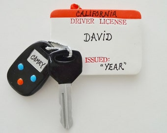 New Driver Personalized Christmas Ornament- Driver's License Personalized Christmas Ornament