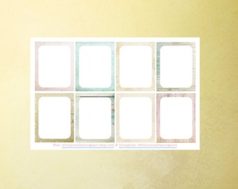 WINTER - Shabby Flakes Collection Decorating WRITE ON Squares - Planner Stickers