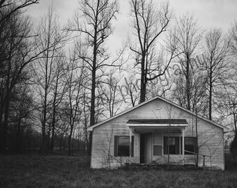 Abandoned House - Forgotten - Rural - Kentucky - Black and White - BNW - Photograph - Print