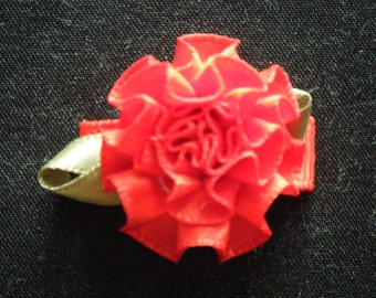 Baby/Toddler/Child Cabbage Rose Snap Hair Clip - 30 mm - 3 cm - Red
