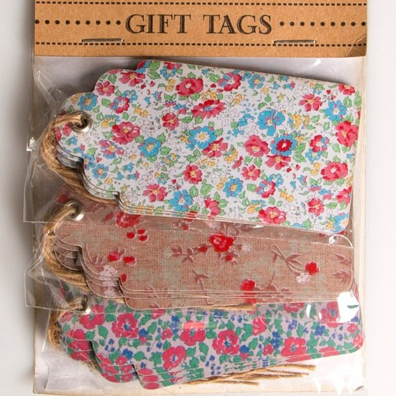 Wedding Gift Luggage Tags : Floral Luggage Tags, Luggage Tags, Gift Wrapping Tags, Wedding ...