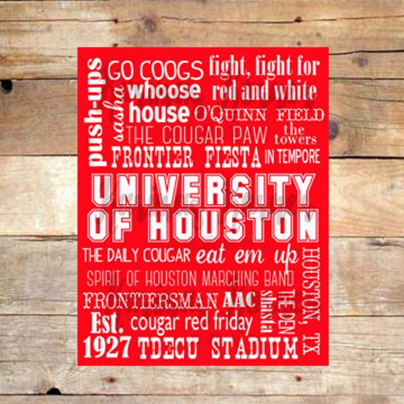 university of houston cougars subway art by karimaskorner. Black Bedroom Furniture Sets. Home Design Ideas
