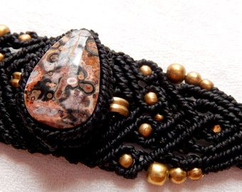 "Bracelet with Jasper and bronze ""The paths of the East"""
