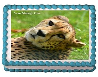 Cheetah Edible Cake Topper, Cheetah Cake, Cheetah Cake Image, Cheetah Edible Image, Cat Cake Topper, Animal Cake Topper, Frosting Sheet