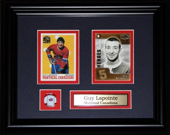 Guy Lapointe Montreal Canadiens NHL 2 card frame