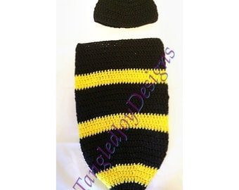 Bumble Bee Cocoon with Hat Photograpy Prop