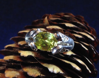 Sterling Silver & Citrine Women's Ring