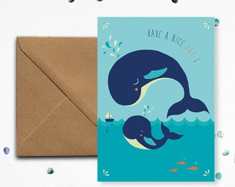 "Map ""Whale"" - kraft envelope"
