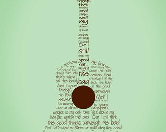The Good Outweighs the Bad Guitar Print 8.5x11