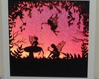 Fairy silhouette Framed Night light