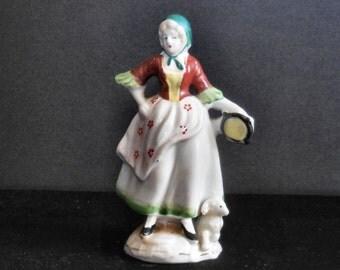 Dancing Lady Porcelain Figurine Occupied Japan 1940s vintage