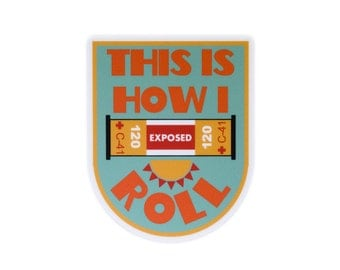This is How I Roll Vinyl Sticker for Film Photographers