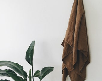 XL Flax Linen Bath + Beach towel  | sheet | sauna | beach | travel towels - eco-friendly + pre-washed in any color