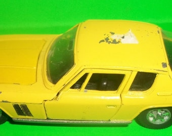 Dinky Toys Yellow Jensen F.F Meccano Ltd Sales No. 188  Made in England, Doors Hood Open Diecast Sportscar Patent No. 891681 Restore Job -