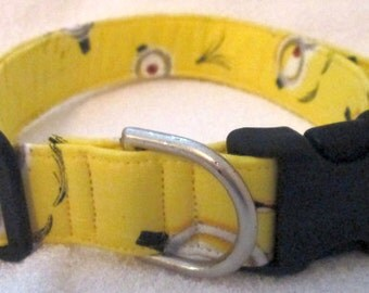 1in Large Minion Faces Themed Dog Collar