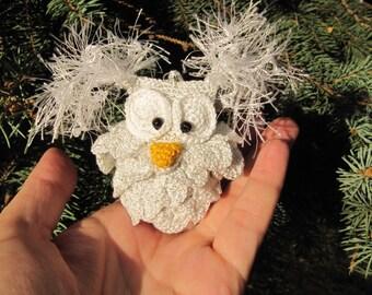 hedwig owl christmas harry potter owl tree decorations white owl christmas ornament christmas accents christmas gift christmas home decor
