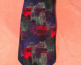 J Garcia New York New York Silk Necktie