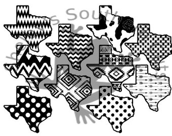 10 Texas pattern SVG/ files
