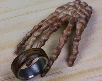 Handemade Wooden Ring With Stainless Steel Insert
