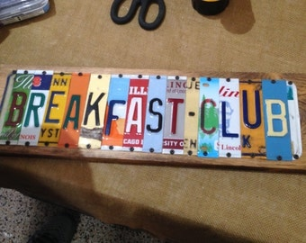 License plate letters etsy for Custom license plate letters