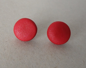 Red stud earrings - polymer clay stud earrings - polymer clay earrings - stud earrings - polymer clay jewellery/jewelry - red -FREE shipping