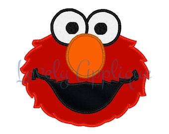 Elmo Applique Design - Instant Download