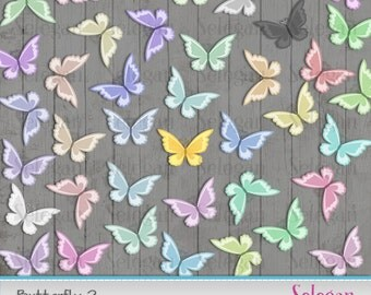 "butterfly print "" Butterfly -2 "" butterfly digital clip arts golden butterfly clipart transparent PNG images pink gold blue baby butterflies"